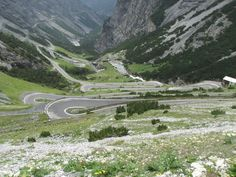 """The """"Bormio"""" side of the Stelvio is by no means any less impressive..."""