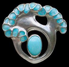 Fahrner Jewelry | THEODOR FAHRNER brooch designed by Max Joseph Gradl