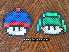 South Park/ Super Mario Mushroom Mashup Perler Beads by GeekyMania