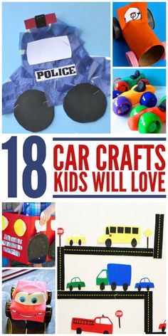 If your kids loves cars these 18 Car Crafts for Kids are sure to be a hit. These car craft ideas provide plenty of opportunity for a ton of fun and learning.