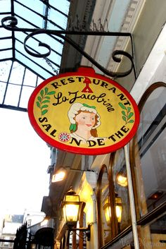 Salon de The in the Latin Quarter, Paris craving their chocolát de azteque and strawberry tart! Pub Signs, Shop Signs, Storefront Signs, Latin Quarter, Street Signs, Paris Travel, Store Fronts, City Lights, Creative