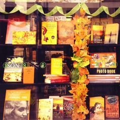We love this autumnal window display in Oxfam Books in Angel
