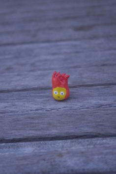 Calcifer Polymer Clay Miniature Sculpture Howl's by AmigurumiByAli, $13.00