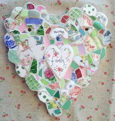 family heart mosaic