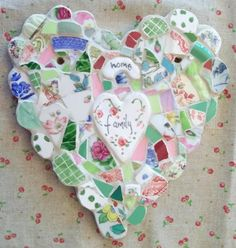 family heart mosaic