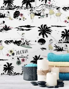 We offer a variety of graphic wallpaper and geometric wallpaper designs and patterns. Find the right modern graphic design wallpaper for your home. Number Wallpaper, Funky Wallpaper, Tropical Wallpaper, Graphic Wallpaper, Beach Wallpaper, Wallpaper Paste, Geometric Wallpaper Design, Modern Wallpaper Designs, Designer Wallpaper