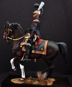Officier du Genie 1813. Transformations à partir du Chasseur a Cheval du CIMIER en 180mm par Serge Morisse