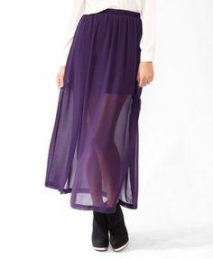 Long Double Slit Skirt   FOREVER21 - 2025102357