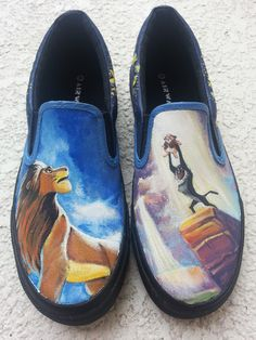 Custom Lion King Shoes by Allizorr.deviantart.com on @deviantART