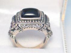 size 6.75 Sterling silver 925 emerald cut von 24k18k14k10kgold