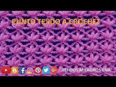 Punto tejido a crochet # 8 fácil de tejer para aplicar en cualquier prenda tejida - YouTube