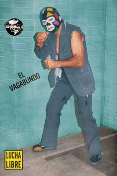 El Vagabundo Luchador Mask, Mexican Wrestler, Ranger, Masked Man, Pop Culture, Joker, Wrestling, Baseball Cards, Movie Posters