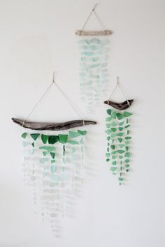 Sea Glass & Driftwood Mobile - Aquamarine Dream. $56.00, via Etsy.  #stylecure