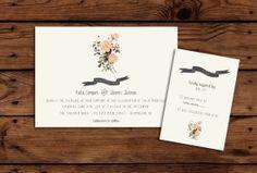 Sweet and Simple Wedding Invitation and RSVP Bundle // Vintage // PRINTABLE