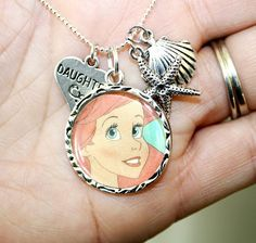The Little Mermaid Charm Necklace Daughter by happilymadeover, $29.00