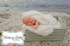 Newborn Beach Session | Brittany Gidley Photography LLC