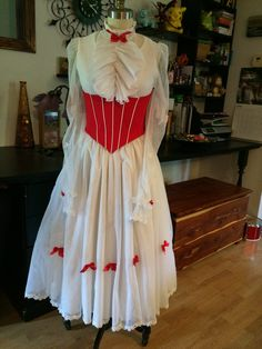 It's amazing what you can do with thrift store wedding gowns!!! Like, perhaps make a Jolly Holiday dress for Mary Poppins...