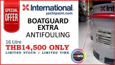 SPECIAL OFFER International Yacht Paint Boatguard Extra #Antifouling 16L ONLY THB14500 Limited Stock / Limited Time  #EastMarine #InternationalYP www.eastmarineasia.com