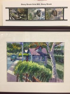 "October Art Display - The Brush/Lens Project - a pairing of painting by Ward Hooper & photography by Holly Gordon.  And register for the ""Meet the Artists"" slide program on Saturday, Oct. 28 at emmaclark.org."