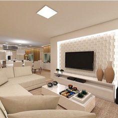 """2,575 curtidas, 94 comentários - Home Luxo - Decor & Interiores (@homeluxo) no Instagram: """"🙌🏼 Inspiração - Living #regram #assimeugosto #bloghomeluxo #inspiration 🌹💋 @homeluxoimoveis…"""""""