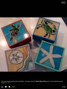 Summertime jewelry boxes