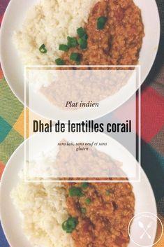 Une recette de dhal aux lentilles corail. Ce plat mijoté est simple à réaliser et savoureux ! Il nécessite peu d'ingrédients et est végé. De plus, cette version est sans œufs, sans lait et sans gluten ! Vous l'avez testé ? Sans Gluten, Chana Masala, Mashed Potatoes, Simple, Ethnic Recipes, Food, Cooking Recipes, Indian Dishes, One Pot Meals