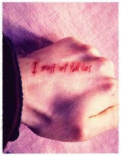 Harry potter on pinterest hp facts harry potter facts for I must not tell lies tattoo