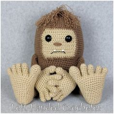 Ravelry: Bruno the Bigfoot pattern by The Left-Handed Crocheter
