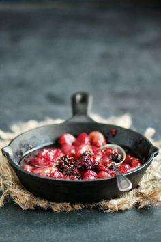 Gnocchis confits aux fruits rouges et sirop d'érable