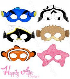 Fish Printable Masks