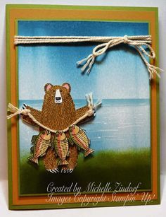Lake Full of Fish Card created by Michelle Zindorf using Stampin' Up! Products - Bear Hugs