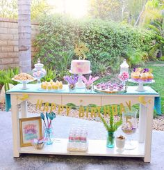 This Mermaid party is absolutely gorgeous!! Love this birthday cake! See more party ideas and share yours at CatchMyParty.com