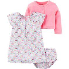 7f52b86d949 Child of Mine by Carter s - Child Of Mine Babygirl 3pc Flo Dress Set -  Walmart.com