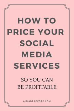 Are you a social media manager or a virtual assistant? If yes, then you really need to make sure that you price your services correctly in order to stay profitable. This article will show you a simple way to price your social media services. #socialmedia #workfromhome #onlinebusiness