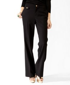 Essential Flared Buttoned Trousers | FOREVER21 - 2025101081