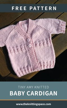 Tiny Amy Knitted Baby Cardigan [FREE Knitting Pattern] Tiny Amy Knitted Baby Cardigan [FREE Knitting Pattern],Knitting Looking for a quick weekend knitting project? Try your hands on this lovely knitted baby cardigan, a knitting. Baby Boy Knitting Patterns Free, Baby Sweater Patterns, Baby Sweater Knitting Pattern, Knitted Baby Cardigan, Knit Baby Sweaters, Knitted Baby Clothes, Knitting For Kids, Free Knitting, Beginner Knitting