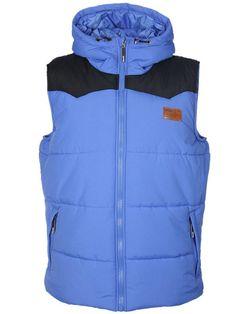 Doudoune sans manches BENCH couleur bleue et noire Bench Clothing, The North Face, Street Wear, Jackets, Clothes, Collection, Fashion, Streetwear Clothing, Color Blue