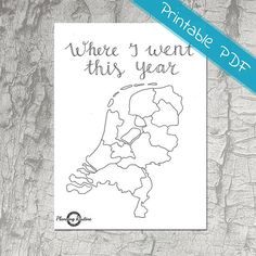 The Netherlands Planner Stickers, Map the Netherlands, Printable Holland Planner Stickers, Travel Stickers of Holland, Printable Stickers