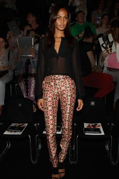 Joan Smalls attends the Rena Lange Show at Mercedes-Benz Fashion Week Spring/Summer 2013 on July 5, 2012 in Berlin, Germany.