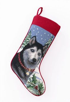 Needlepoint Dog Breed Christmas Stockings - Dog Chic Boutique http://store.dogchicboutique.com/needlepoint-dog-breed-christmas-stockings  $37.75