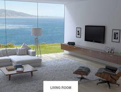False window scene on wall (seen on HEOS By Denon webpage)