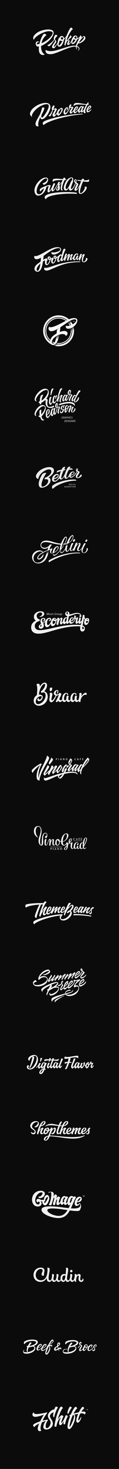 Lettering logotypes , compilation 1 by Евгений Тутов, via Behance