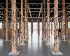 david chipperfield sets sticks and stones amid berlin's neue nationalgalerie