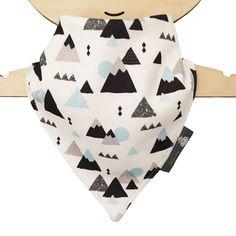 ORGANIC Baby Bandana Dribble Bib in MOUNTAINS Print - A Modern Gift Idea from BellaOski by bellaoski on Etsy