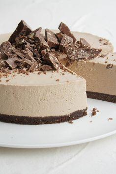 This Toblerone Cheesecake Slice by jodi hay has us weak at the knees.
