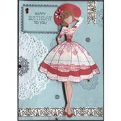 Prima Julie Nutting Doll Stamp - Audrey
