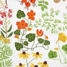 The beautiful Leksand fabric comes from the Swedish brand Klippans Yllefabrik and is designed by Edholm Ullenius. The fabric is made of fine cotton and has a lovely pattern inspired by the Swedish flora in a mix of different colors. Use the fabric as a table cloth or maybe as a curtain in the kitchen
