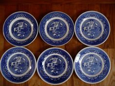 Small Bread Side Plate Blue Willow by Royal by eyeforaneyevintage, $20.00