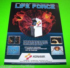 On-Sale-LIFE-FORCE-By-KONAMI-1986-ORIGINAL-NOS-VIDEO-ARCADE-GAME-SALES-FLYER #konamilifeforce #retroarcade #arcadeflyers #videogameflyer