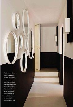 Mur Bicolore en noir et Blanc - chic #black+white #wall